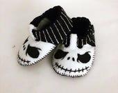 Jack Baby Shoes, Baby Booties, Baby Slippers, Handmade in Lightweight Felt.