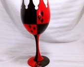 Vixen inspired Hand Painted Wine Glass.