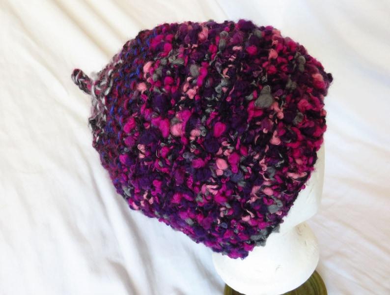 1811e85e5c7 Necromanagement Pinecone Handknit hat pinecone hat chunky