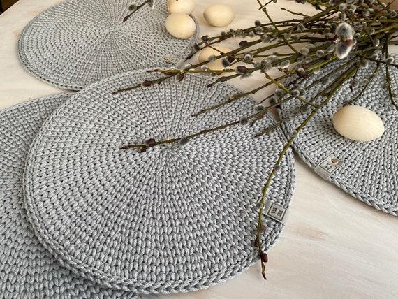 Crochet Table Place Mats Set Of 4 Table Decor Home Decor Etsy