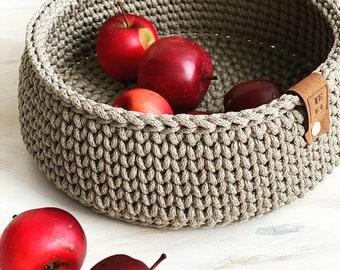 Crochet basket storage, handmade baskets, Scandinavian interior, Home decor