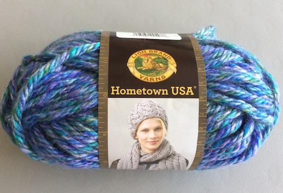 Yarn Lion Brand Hometown Usa Yarn Acrylic Yarn Blue Green Etsy