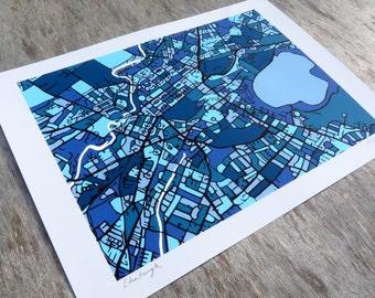 Edinburgh Art Map - Limited Edition Contemporary Giclée Print