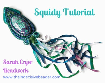 TUTORIAL Squidy Pendant Bead Embroidery Tutorial INSTANT DOWNLOAD