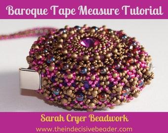 TUTORIAL Baroque Tape Measure Surround Beadweaving Tutorial INSTANT DOWNLOAD