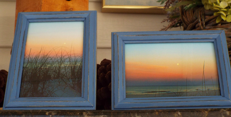Beach frames, Pastel Decor, Sunrise-sunset photography, Blue frame ...