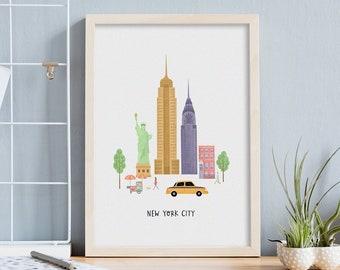 Personalised New York City Art Print