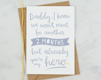 Personalised Card For Dad To Be