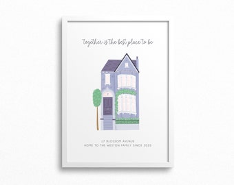 Personalised Family Home Art Print