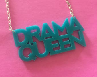 Drama Queen Acrylic Necklace