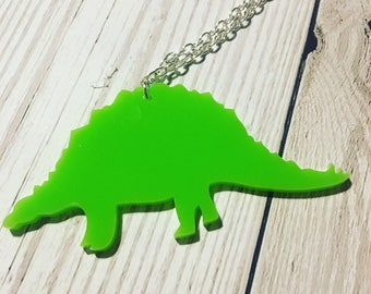 Acrylic Dinosaur Necklace