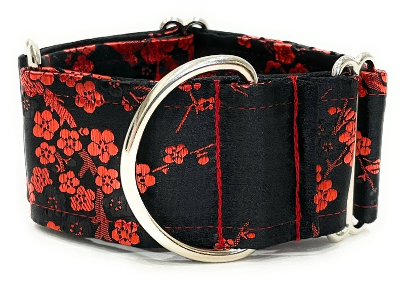 Satin fabric Martingale collar  Greyhound Whippet Saluki adjustable 2 inches wide