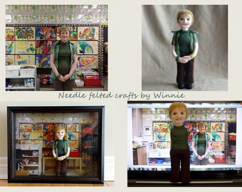 Needle felted Personalized doll custom order OOAK(Please convo me to set up a reserve listing for your custom order)