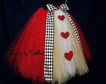 Heart Queen Tutu Skirt, Queen of Hearts Costume, Heart Tutu Skirt, Valentine Tutu, Heart Tutu, Birthday Party Tutu, Heart Halloween Costume