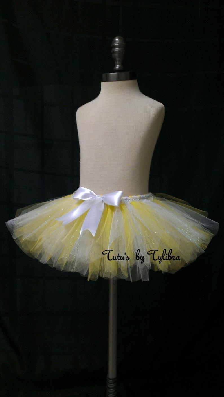 Yellow Tutu Yellow And White Tutu Easter Tutu 1st Birthday Etsy