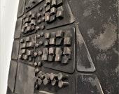 Your City Large wall art Metal sculpture Industrial interior design
