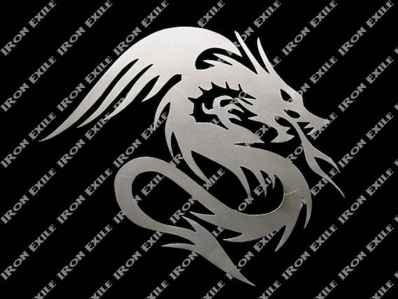 Metal Dragon Silhouette #10 Plasma Cut Wall Art Decor