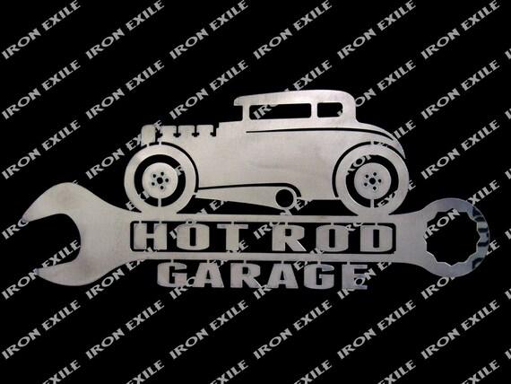 Hot Rod Coupe Garage Metal Wall Art Sign Street Rat Rod Speed | Etsy