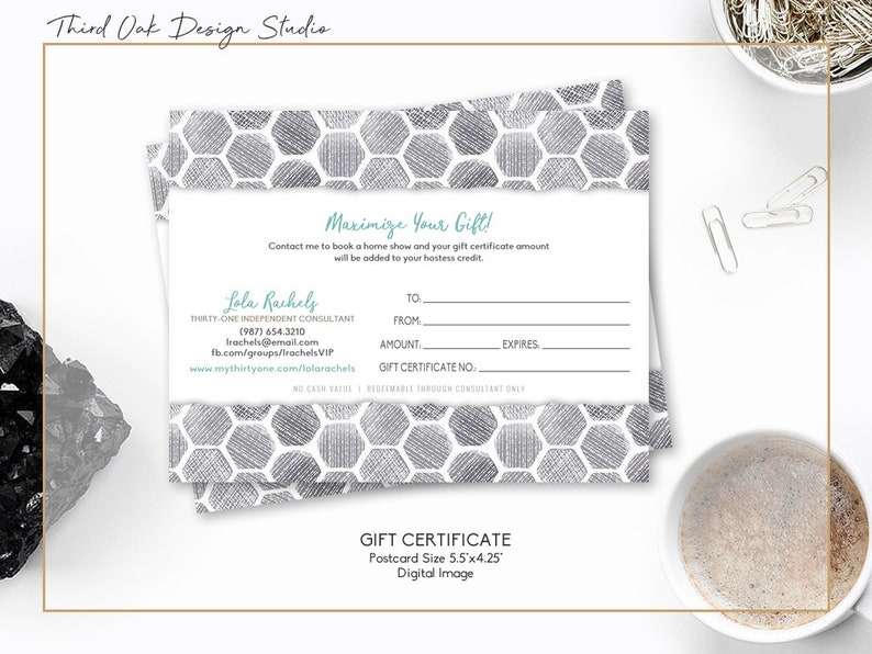 NEW Spring Patterns | Customized Gift Certificates for Thirty One with  Photo Option | Digital Download Print Yourself