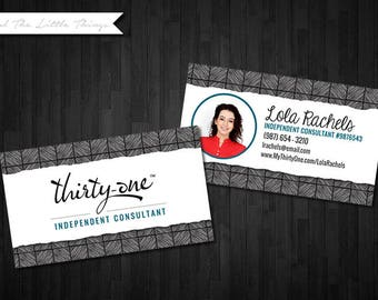 NEW Spring Patterns | Customized Business Card with Photo for Thirty One | Digital Download Print Yourself