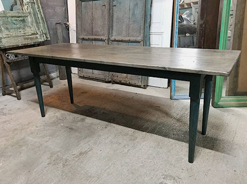 Very Beautiful And Practical Narrow Dining Table Elegant Vintage Kitchen or Dining Table made from Reclaimed | Etsy