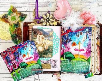 Hebrews 4:12 Sword Girl Watercolor Victory Traveler's Notebook Insert Midori Moleskine Journal Prayer Book Blank Growing Meadows christian