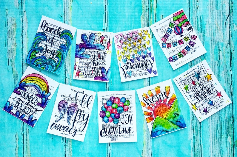 Christian Journaling Cards 3x4 Southern Gospel Pocket Pages image 0