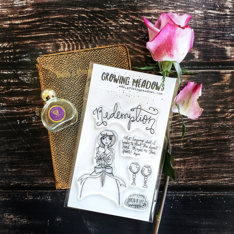 Bible Journaling Stamps Redemption Communion bread cup hymn Christian  Stamping Bibles Girl Holy Jesus Precious Growing Meadows Tai Bender