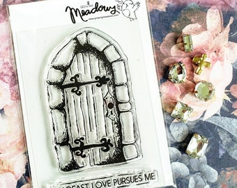 Steadfast Love Mini Stamps Christian Scrapbooking Stamping Bible Journaling old door castle rustic pursue seek Growing Meadows Tai Bender