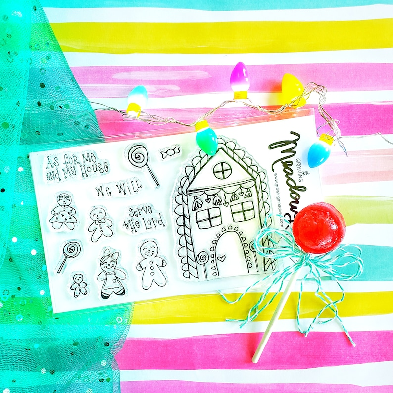 Bible Journaling Stamps Gingerbread As for me and my House image 0