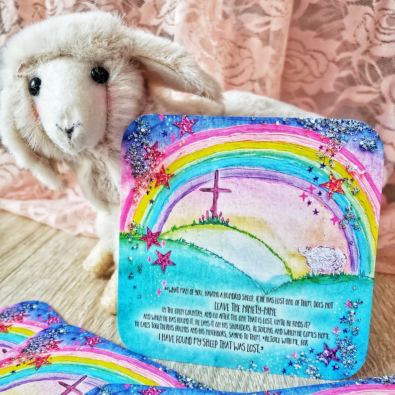 Christian Journaling Cards Scripture rainbow parable of the image 0