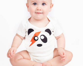 aefb605a1744 ZIGGY Stardust Panda Baby Grow for Boys or Girls | Rock n Roll David Bowie  Baby Vest/Neutral Bodysuit - Cool Baby Shower, 1st Birthday Gift