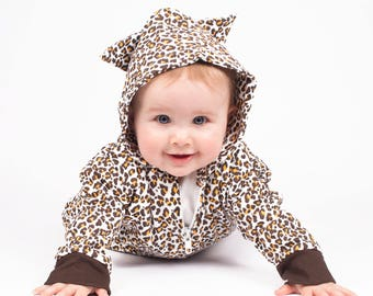 e983b44a2d5e Cute Leopard Baby Outfit   Animal Print Baby Romper All In One   Coverall    Leopard Toddler Costume Romper Baby Gift - - Halloween Costume Sc 1 St Etsy