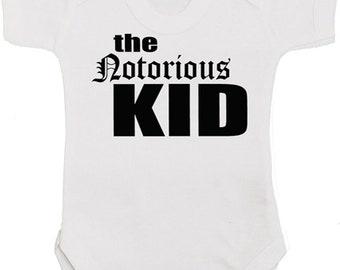 Notorious KID HIP HOP Baby Shower Gift Boy or Girl | Notorious Big Baby Grow | Unisex Bodysuit | Vest