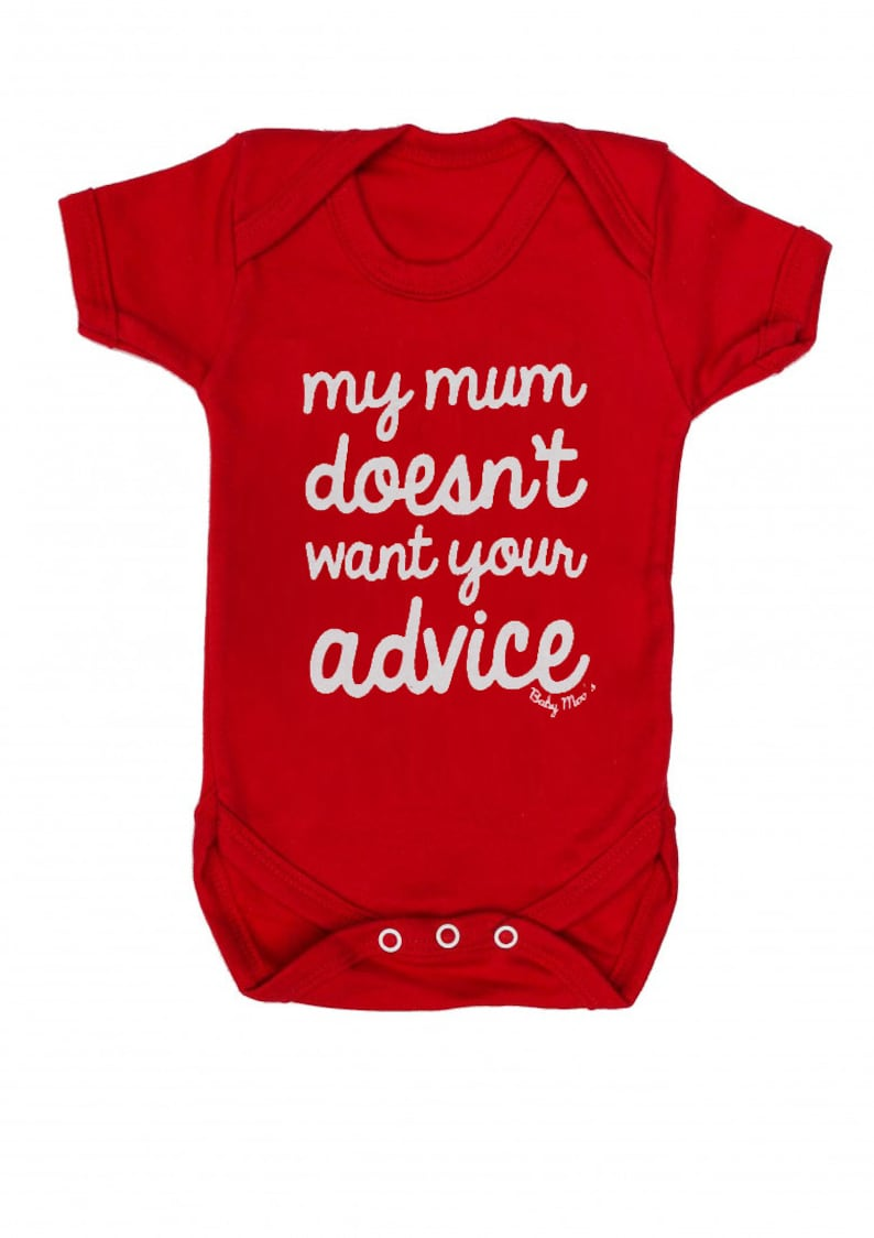 40b0c90bcadaf FUNNY Baby Grow Boys or Girls My Mum Doesn't Want Your | Etsy