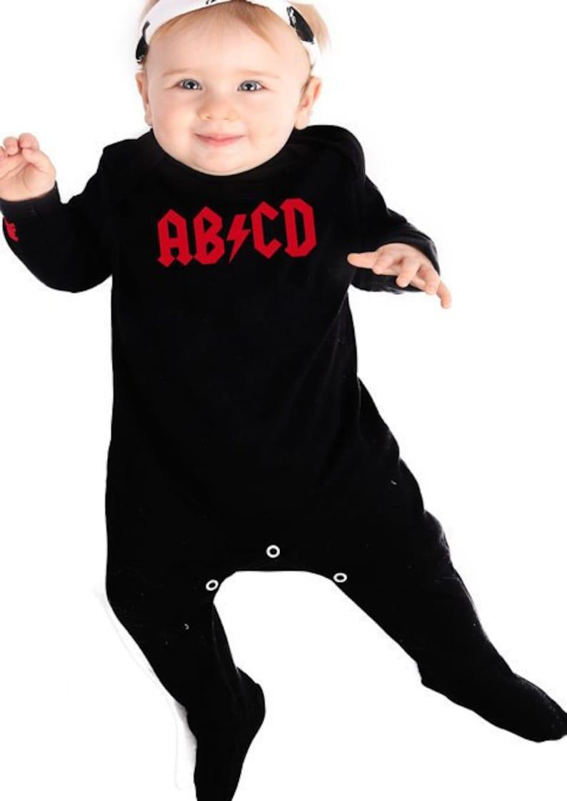 3fb77a4c7 ROCK N ROLL Baby Sleepsuit Boys Girls Cool ab cd  ac
