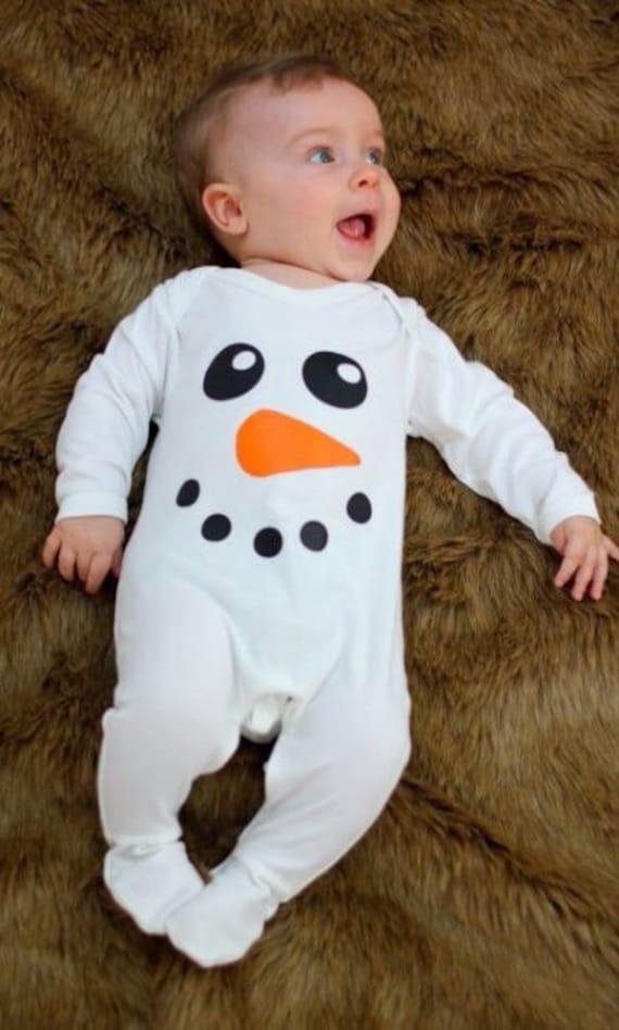 Babys erste Weihnachten Pyjama für jungen Mädchen | Etsy