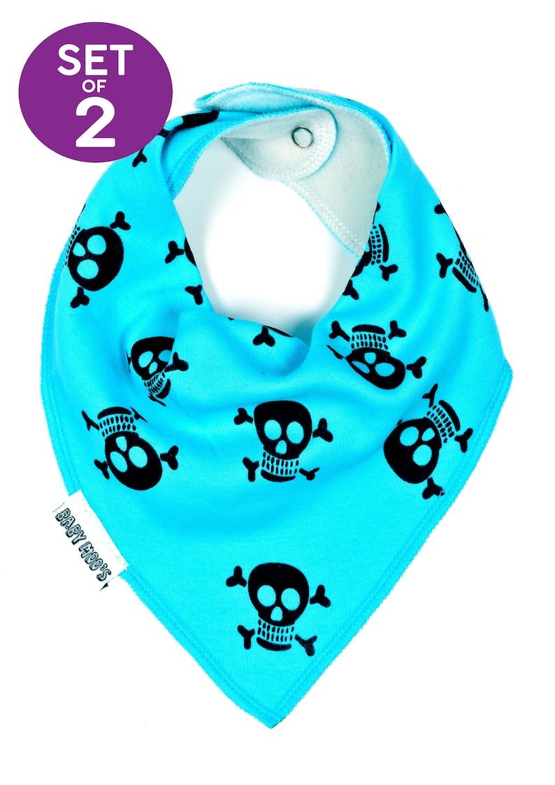 skull print dribble bib bandana baby neckerchief