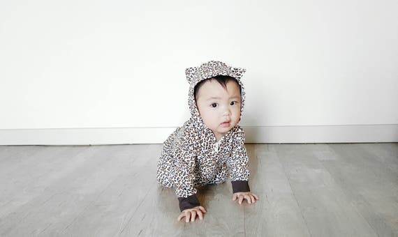 3e3c1266b7e0 Leopard Baby Romper Outfit for Boys or Girls Cute Animal