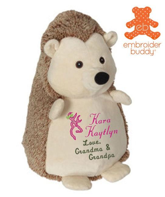 Personalized Stuffed Hedgehog Stuffed Animal Birth Announcement