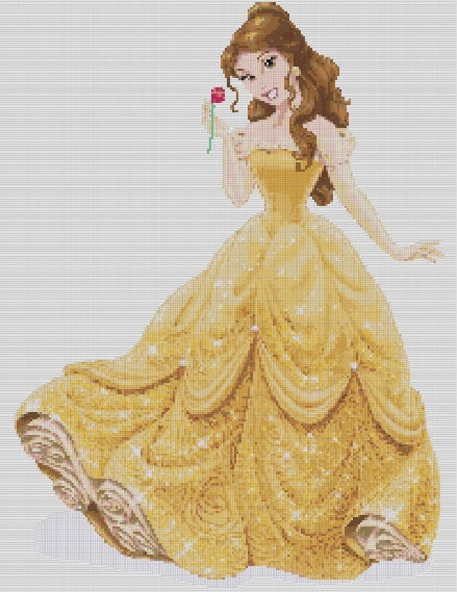 Counted Cross Stitch Pattern Disney Princesses Beauty and | Etsy