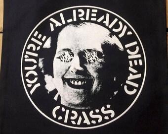 Tote Bag CRASS You're already dead Punk Anarcho