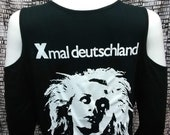 Xmal Deutschland Cold shoulder Long Sleeve Black top deathrock goth punk gothic