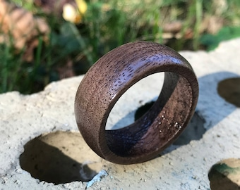 Rustic Wood Ring Made To Order Reclaimed Wood Gift for Him Gift for Her Custom Wooden Wedding Band