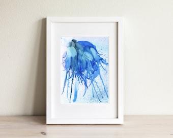 Jellyfish #3- original alcohol ink on yupo