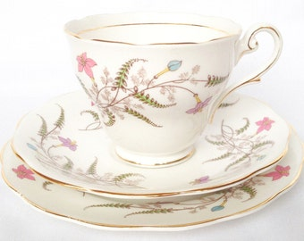 Royal Standard Fancy Free trio - cup, saucer and tea plate