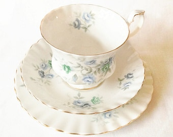 Royal Albert Inspiration trio - cup, saucer and tea plate - bone china England