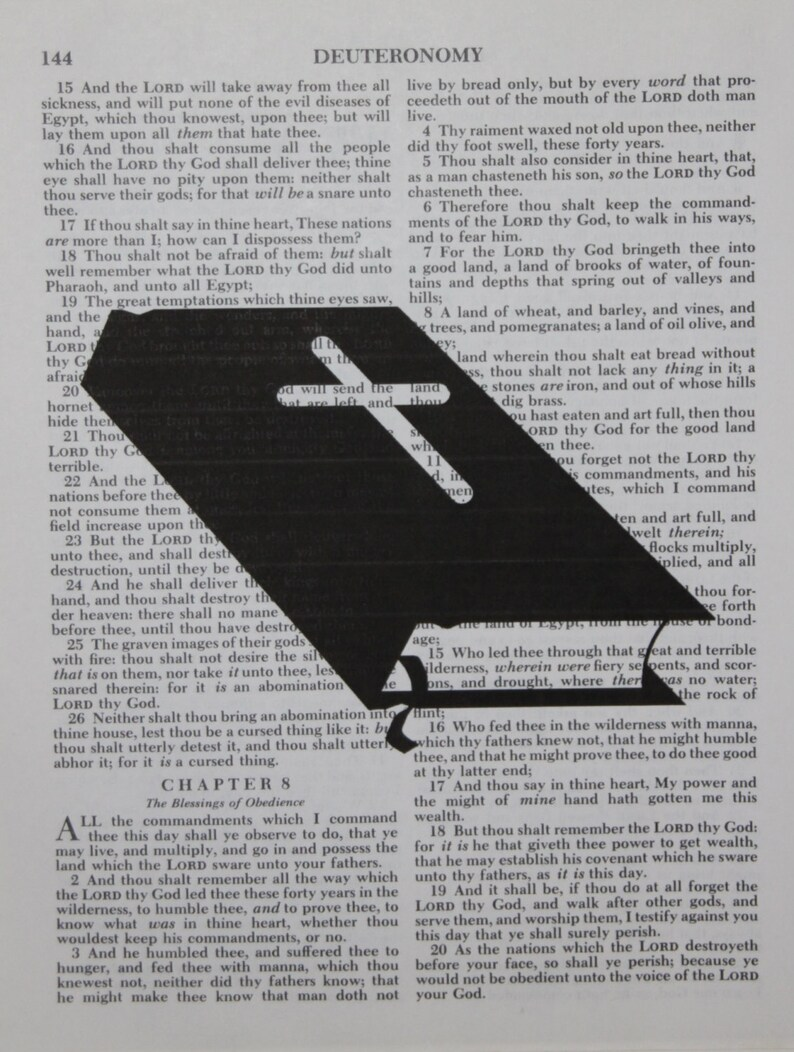 Holy Bible Authentic Bible Page Print ~ Religious ~ vintage ~ Cross modern~  Church ~ Bible ~ Worship~ Gift for pastor Preacher jesus Wall