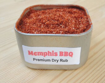 Memphis Original BBQ Barbeque Dry Rub In Tin SUGAR FREE