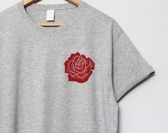 Succulent Handprinted Lino Block Print Graphic Shirt